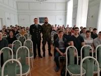 Přednáška o možnostech studia na Univerzitě obrany a Policejní akademii