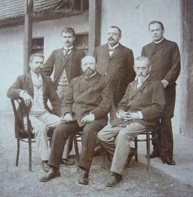 První profesorský sbor Purkyňova gymnázia ve Strážnici