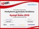 Gympl roku - soutěž zaštiťuje Asociace studentů a absolventů, z.s.